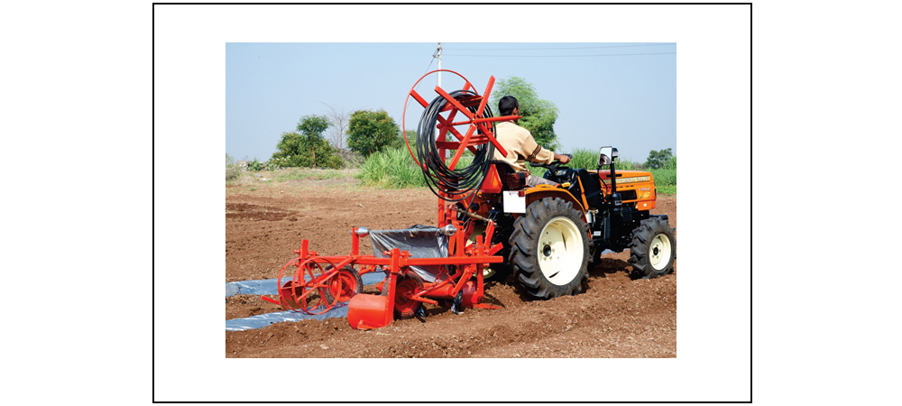 Plastic Mulch Laying Machine
