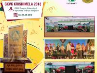 Winners of best stall award at GKVK Krishimela 2018
