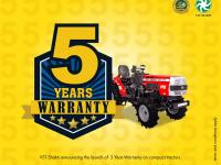 5 Years Warranty on compact tractors