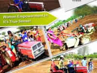 Mahila Group members Operating Tractors and Power Tillers