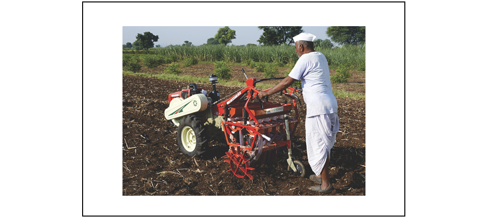 Fertilizer cum Seed Drill Attachment