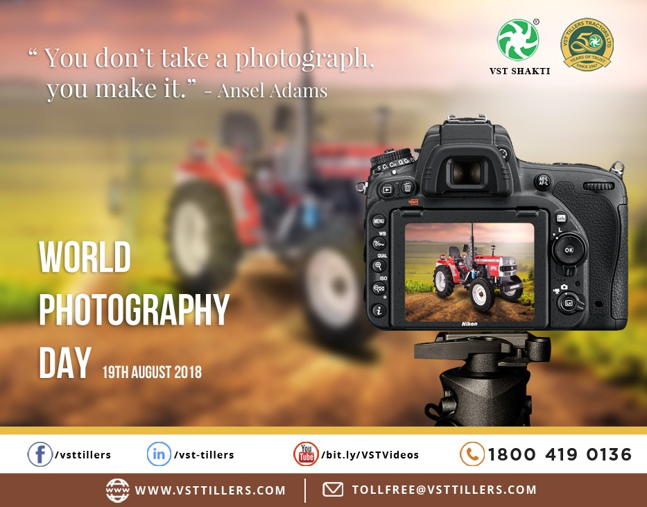 World Photography Day V S T Tillers Tractors Ltd