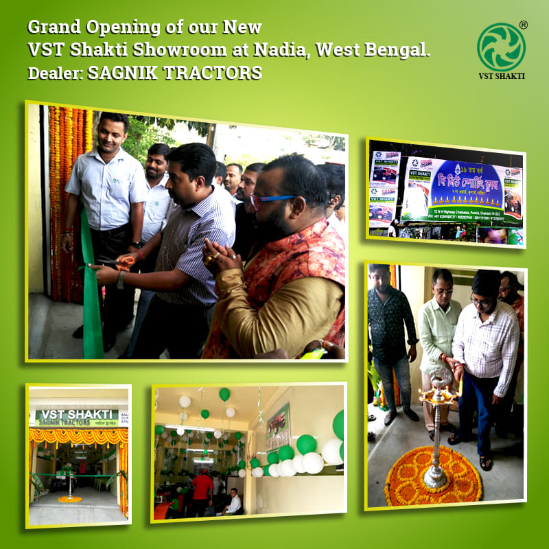 VST is proud to announce the grand launch of its brand new showroom, Sagnik Tractors at Nadia in West Bengal.