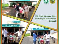 Handing over VST Shakti Power Tillers to our esteemed customers.