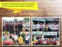 Dealers from Maharashtra delivered multiple VST Shakti tractors
