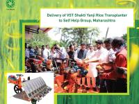 A youth wing of Shiv Sena delivered VST Shakti Yanji Rice Transplanter .