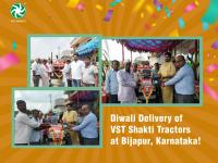 On the festive occasion of Diwali, our dealer from Bijapur, Karnataka handed over the new VST Shakti Tractors to our customers.